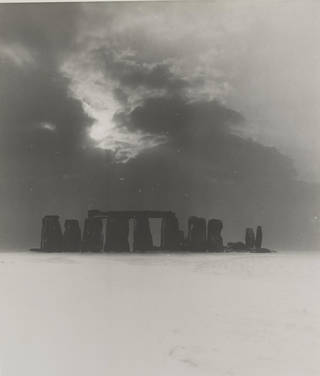 Stonehenge Under Snow, photograph by Bill Brandt, 1944 © Bill Brandt Archive Ltd.