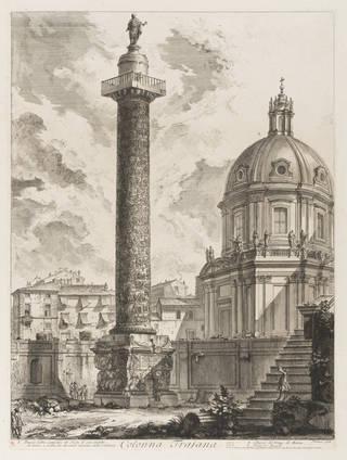 Etching of Trajan's Column, Giovanni Battista Piranesi, Italy. Museum no. CAI. 933. © Victoria and Albert Museum, London