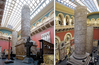 View of Trajan's Column, Cast Courts, Room 46a, The West Court. © Victoria and Albert Museum, London