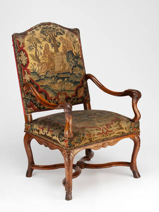 Photo of Armchair, maker unknown, 1725 – 35, France. Museum no.  W.55-1914. © Victoria and Albert Museum, London