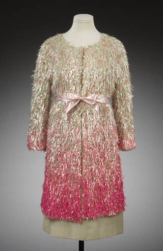 Photo of Evening outfit, designed by Cristóbal Balenciaga, embroidered by Lesage, 1967, France. Museum no. T.38 to C-1974. © Victoria and Albert Museum, London