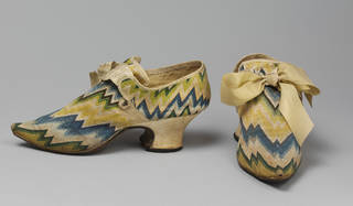 Photo of Shoes, maker unknown, 1730 – 40, England. Museum no. T.64&A-1935. © Victoria and Albert Museum, London