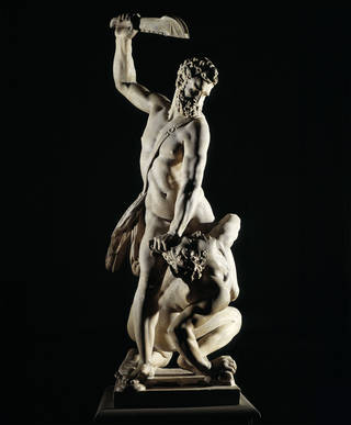 Samson Slaying a Philistine, Giambologna, 1560 – 1562, Italy. Museum no. A.7-1954. © Victoria and Albert Museum, London