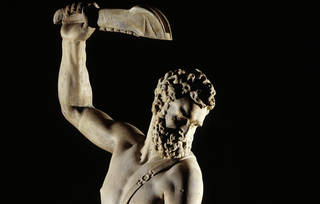 Samson Slaying a Philistine (detail), Giambologna, 1560 – 1562, Italy. Museum no. A.7-1954. © Victoria and Albert Museum, London