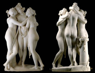 The Three Graces, sculpture, Antonio Canova, 1814 – 17, Italy. Museum no. A.4-1994. © Victoria and Albert Museum, London
