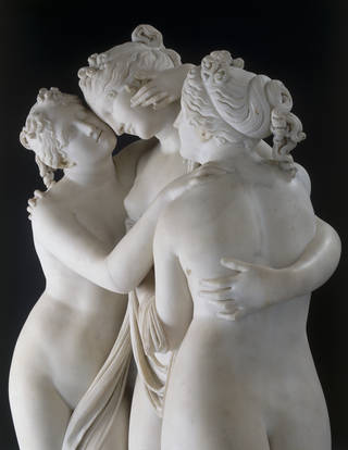 The Three Graces (detail), sculpture, Antonio Canova, 1814 – 17, Italy. Museum no. A.4-1994. © Victoria and Albert Museum, London