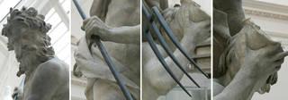 Neptune and Triton (details), sculpture, Gian Lorenzo Bernini, 1622 – 23, Italy. Museum no. A.18:1-1950. © Victoria and Albert Museum, London