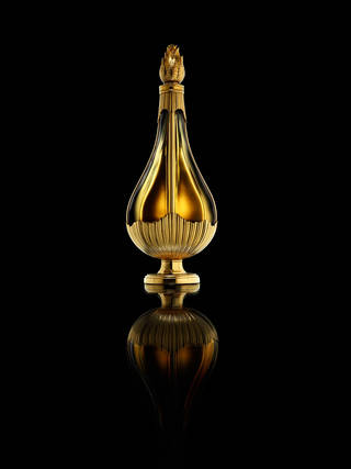 Gold perfume bottle
