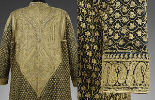 Robe, wool and silk with gold embroidery, makers unknown, about 1855, Amritsar, India. Museum no. 0197(IS). © Victoria and Albert Museum, London