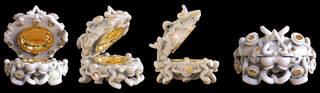 Visual Feast 'BOX' (box), 3D printed Moondust, gold, diamonds, mother of pearl, Silvia Weidenbach, 2018, London and Glasgow