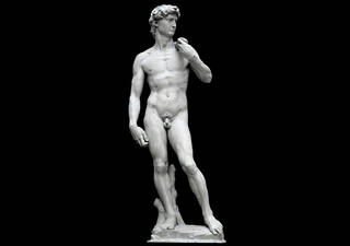 Plaster cast of Michelangelo's David by Clemente Papi, 1856, Florence, Italy. Museum no. REPRO.1857-161. © Victoria and Albert Museum, London