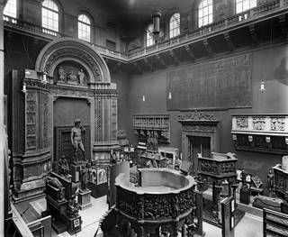 Photograph of The Cast Court showing David, 1920. © Victoria and Albert Museum, London