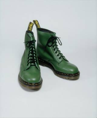 Photo of Boots, designed by Dr Martens/ AirWair Ltd - Dr Martens Department Store, 1994, UK. Museum no. T.90:1 &2-1994. © Victoria and Albert Museum, London