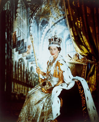 Queen Elizabeth II, photograph by Cecil Beaton, 1953, England. Museum no. PH.311-1987. © Victoria and Albert Museum, London