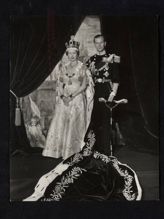 Queen Elizabeth II and Prince Philip, Duke of Edinburgh, photograph by Cecil Beaton, 1953, England. Museum no. PH.1551-1987. © Victoria and Albert Museum, London