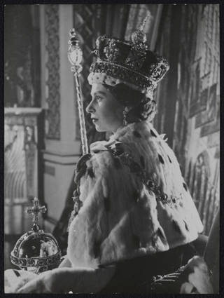 The Coronation of Queen Elizabeth II, photograph by Cecil Beaton, 1953, England. Museum no. PH.1540-1987. © Victoria and Albert Museum, London