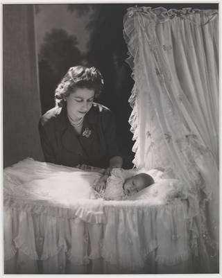 Princess Elizabeth and Prince Charles, photograph by Cecil Beaton, 1948, England. Museum no. PH.218-1987. © Victoria and Albert Museum, London