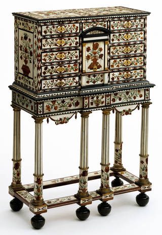 Cabinet on a stand, possibly by Pierre Gole, 1660 – 71, France. Museum no. W.38-1983. © Victoria and Albert Museum, London