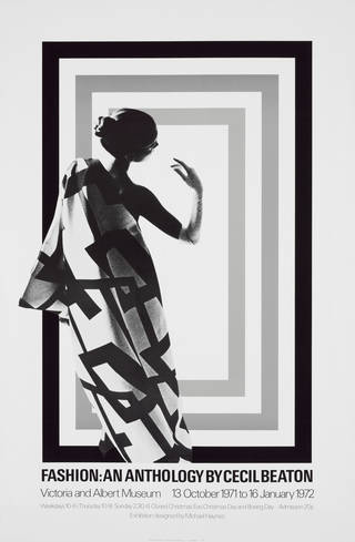 V&A exhibition poster for Fashion: An Anthology by Cecil Beaton, 1972, England. Museum no. MA/24/85. © Victoria and Albert Museum, London