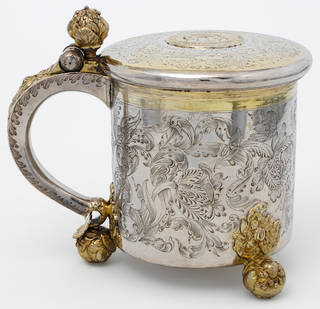 Peg tankard, maker unknown, about 1690, probably Denmark. Museum no. LOAN:GILBERT.603-2008. © Victoria and Albert Museum, London