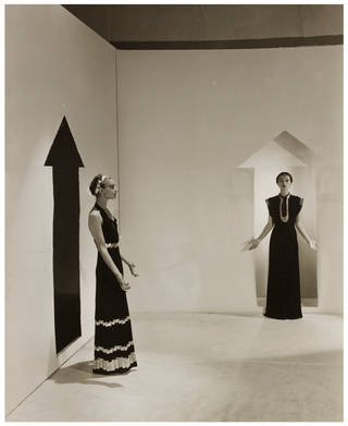 Schiaparelli evening dresses, photograph by Cecil Beaton for French Vogue, published 1936, France. Museum no. 193-1977. © Victoria and Albert Museum, London