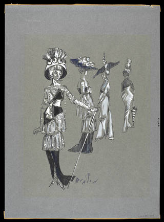 Costume design for Ladies at Ascot, My Fair Lady, Theatre Royal Drury Lane, Cecil Beaton, 1958. Museum no. CIRC.245-1958. © Victoria and Albert Museum, London