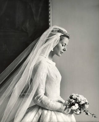 Photo of Katharine Worsley, Duchess of Kent on her wedding day, photograph by Cecil Beaton, 1961, England. Museum no. PH.3899-1987. © Victoria and Albert Museum, London