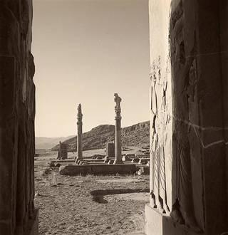 View of ruins at the palace of Persepolis, Persia, 1949. © Condé Nast/Horst Estate