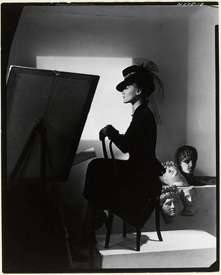 Photo of Hat and coat-dress by Bergdorf Goodman, modelled by Estrella Boissevain, 1938. © Condé Nast/Horst Estate