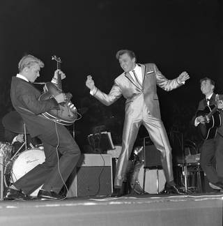 Billy Fury at Wembley, photograph by Harry Hammond, 1962, England. Museum no. S.11448-2009. © Victoria and Albert Museum, London