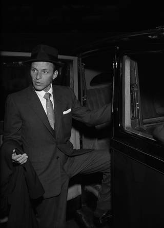 Frank Sinatra at the Savoy Hotel, photograph by Harry Hammond, 1956, England. Museum no. S.8261-2009. © Victoria and Albert Museum, London