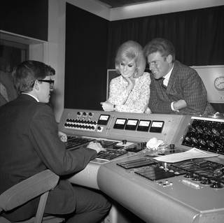 Dusty Springfield at Philip Records recording studio, photograph by Harry Hammond, 1962, England. Museum no. S.15297-2009. © Victoria and Albert Museum, London
