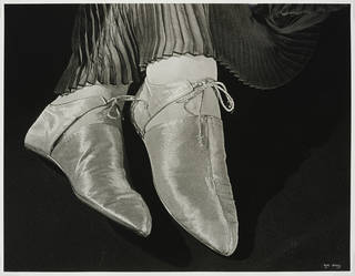 Shoes for Harpers Bazaar, photograph by Ilse Bing, photographed 1935, printed 1988, gelatin silver print. Museum no. E.3033-2004. © Victoria and Albert Museum, London/Estate of Ilse Bing, courtesy Michael Mattis