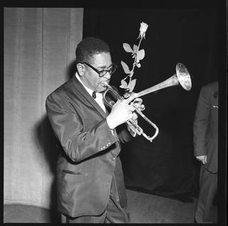 Photo of Dizzy Gillespie, photograph by Harry Hammond, 20th century, UK. Museum no. S.11642-2009. © Victoria and Albert Museum, London