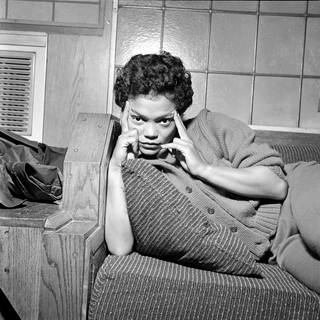 Photo of Eartha Kitt in her dressing room, photograph by Harry Hammond, about 1950, UK. Museum no. S.12498-2009. © Victoria and Albert Museum, London