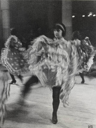 Photo of Paris, Moulin Rouge, French can-can dancer # 2, photograph by Ilse Bing, 1931. Museum no. E.3064-2004, © Victoria and Albert Museum, London/Estate of Ilse Bing, courtesy Michael Mattis