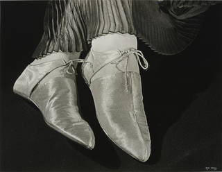 Photo of Shoes for Harpers Bazaar, photograph by Ilse Bing, photographed 1935, printed 1988, gelatin silver print. Museum no. E.3033-2004. © Victoria and Albert Museum, London/Estate of Ilse Bing, courtesy Michael Mattis
