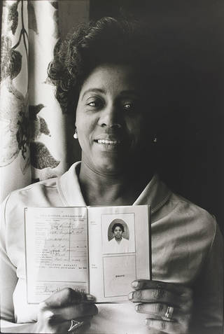 Cynthia M Prescod (Mum) at Home in Primrose Hill, London, photograph by Normski, 1986, England. Museum no. E.108-2012. © Normski/ Victoria and Albert Museum, London. Supported by the National Lottery through the Heritage Lottery Fund.