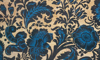 Portion of flock wallpaper from Clandon Park, Surrey , unknown maker, about 1735, England. Museum no. E.31-1971. © Victoria and Albert Museum, London