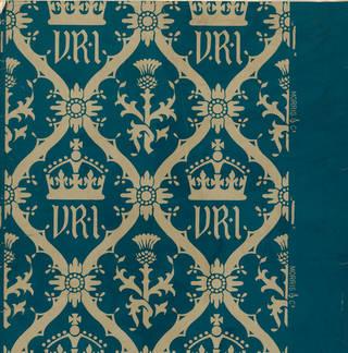 Design for flock wallpaper, William Morris, made 1887, England. Museum no. CIRC.16-1961. © Victoria and Albert Museum, London