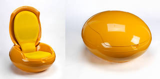 Garden Egg Chair, Peter Ghyczy, 1968, Germany. Museum no. W.8-2007. © Victoria and Albert Museum, London