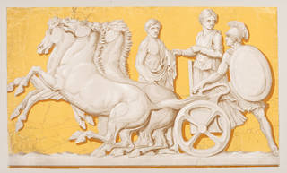 Portion of a wallpaper frieze with a design reproducing part of the Parthenon marbles, Jeffrey & Co., about 1851, London. Museum no. E.33-1971. © Victoria and Albert Museum, London