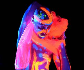 Neon Night: Neon Naked Life Drawing  photo