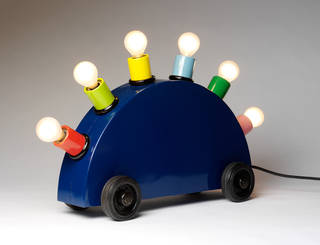 Super lamp prototype, designed by Martine Bedin (for Memphis), made by Fausto Celati, 1981, Italy. Museum no. M.1-2011