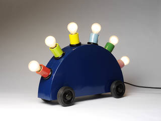 Photo of Super lamp prototype, designed by Martine Bedin (for Memphis), made by Fausto Celati, 1981, Italy. Museum no. M.1-2011