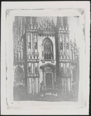 Rear view of cathedral, photograph by William Henry Fox Talbot, about 1858, England. Museum no. RPS.252-2017. © Victoria and Albert Museum, London