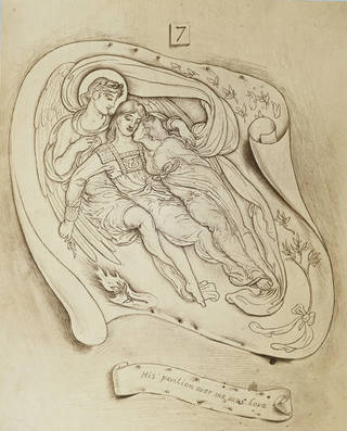Illustration for the Song of Songs, by Simeon Solomon, photographed by Frederick Hollyer, 1878, England. Museum no. 276-1931. © Victoria and Albert Museum, London