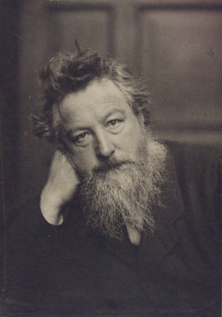 William Morris, photograph by Frederick Hollyer, 1884, England. Museum no. 7715-1938. © Victoria and Albert Museum, London