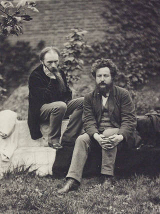 Edward Burne-Jones and William Morris, photograph by Frederick Hollyer, 1874, England. Museum no. 7711-1938. © Victoria and Albert Museum, London