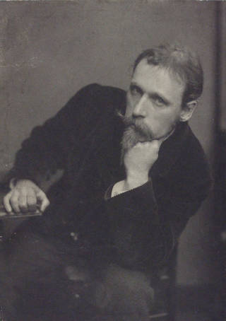 Walter Crane, photograph by Frederick Hollyer, 1886, England. Museum no. 7725-1938. © Victoria and Albert Museum, London